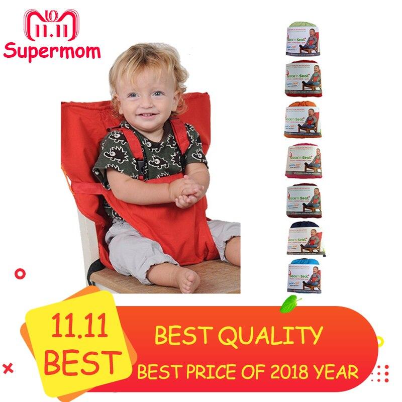 купить Baby Portable Seat Kids Chair Travel Foldable Washable Infant Dining High Dinning Cover Seat Safety Belt Feeding High Chair по цене 783.33 рублей