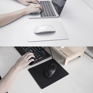 Image 5 - Mousead metálico de alumínio para mouse, tapete de mouse fino de metal, duro, suave, dupla face, à prova d água, controle rápido e preciso para escritório e casa