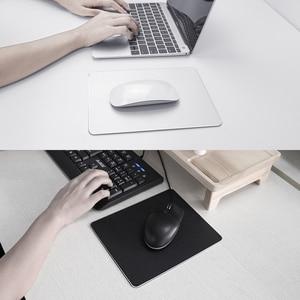 Image 5 - 금속 알루미늄 마우스 패드 매트 단단한 매끄러운 마술 얇은 Mousead 두 배 측 방수 사무실 가정을위한 빠르고 정확한 통제