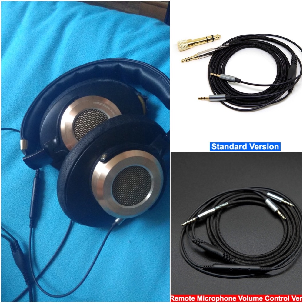 5N OFC Hifi Cable Wire Line For Xiaomi Xiao Mi Over Ear  Headphone Headset All Smartphones Remote Control