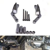 One Set Of CNC Aluminum Frame Slider For Yamaha MT 09 2013 2014 2015 Titanium FYAMT026