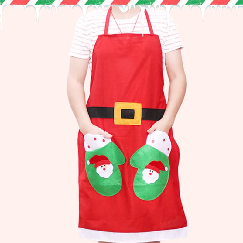 Christmas Apron Kitchen Cooking Dinner Apron Household Cleaning Tools Accessories Party  ...