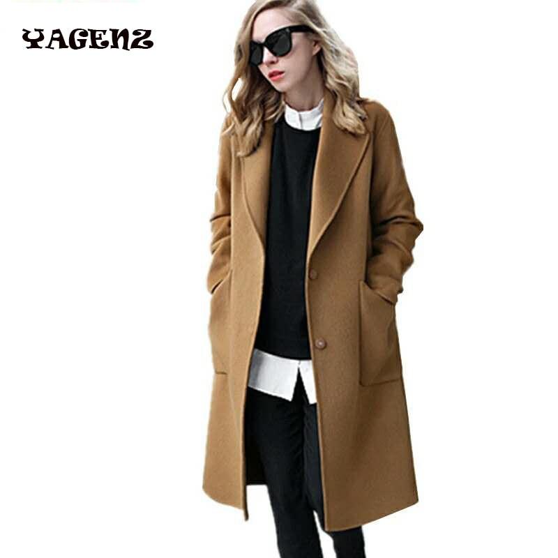 Plus Size 5XL Wool Coat Autumn Winter Large Size Women Coat 2017 New Long Woolen Jacket