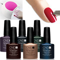 110Colors Choose NEW Design CND Shellac 7pcs/lot (6pcs gel+led uv lamp)  7.3ml Nail UV Soak Off Gel Polish Free shipping