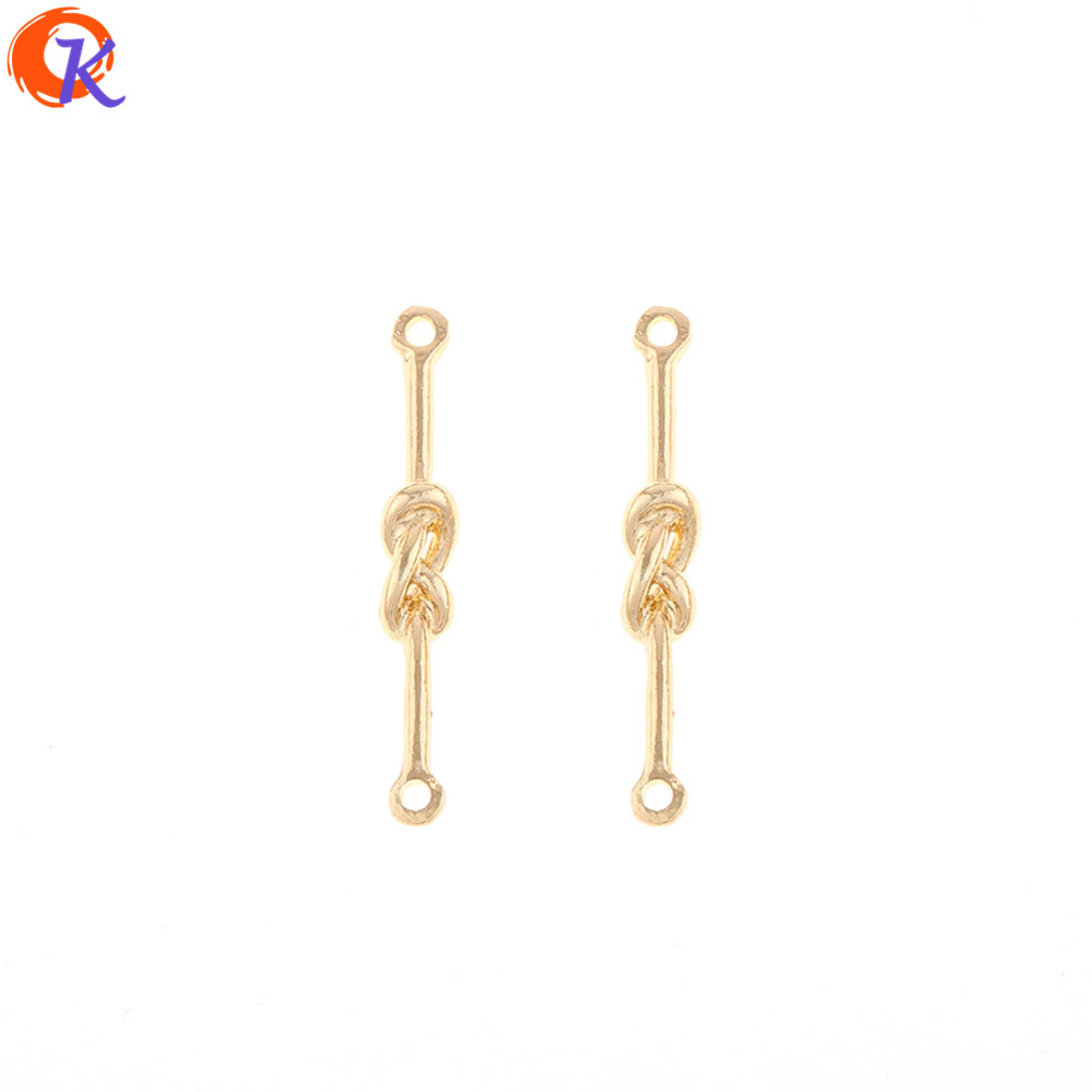 Cordial Design 200Pcs 4*29MM Jewelry Accessories/Earring Connectors/Tie Knot Shape/DIY Making/Hand Made/Earring Findings