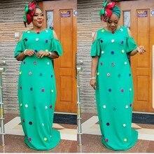 Африканские платья для женщин, новинка 2019, африканская Женская одежда, модное Африканское платье, длинное свободное платье макси, африканская одежда