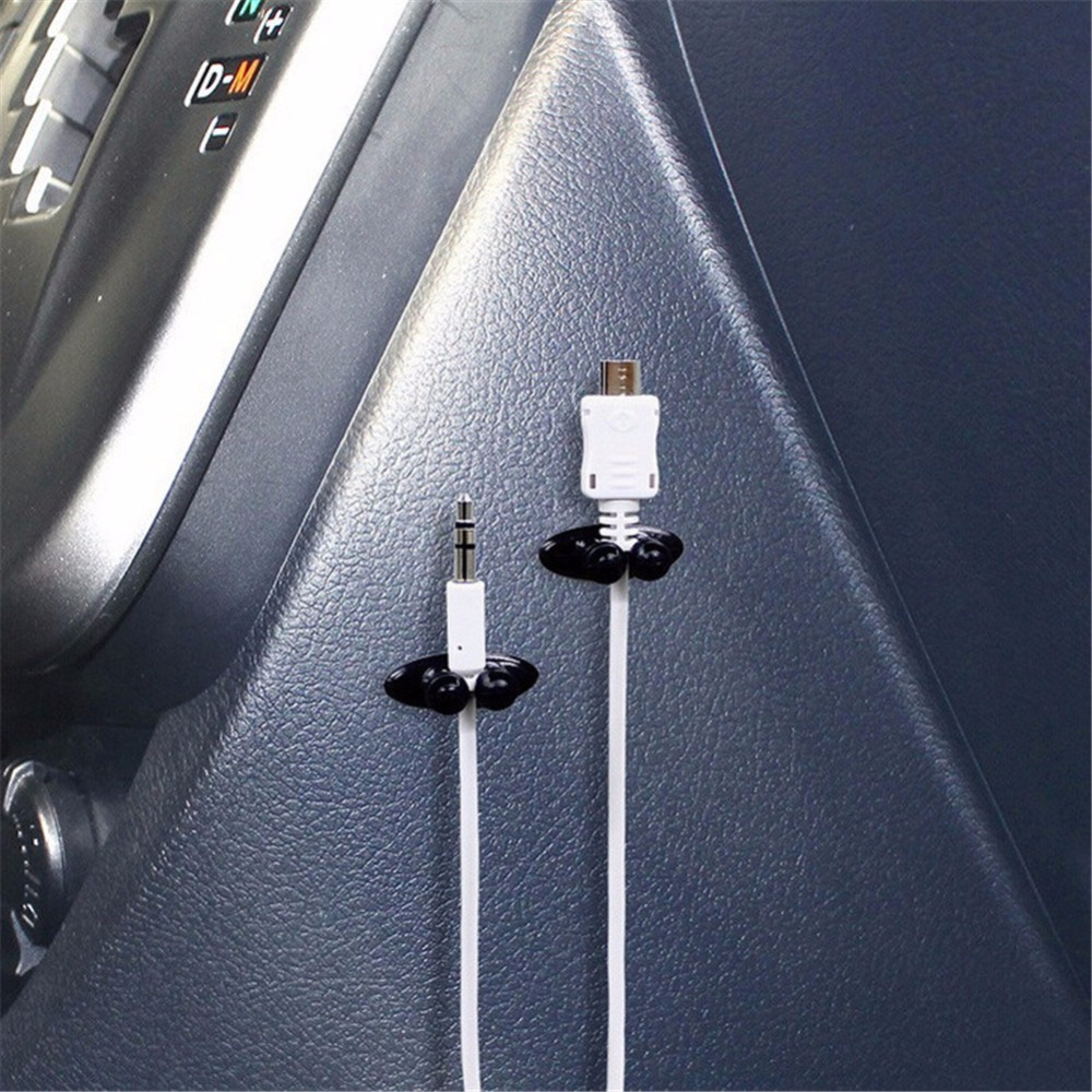 8 Pieces Cable Organizer Self adhesive Car Cable Clip Wire Cord ...