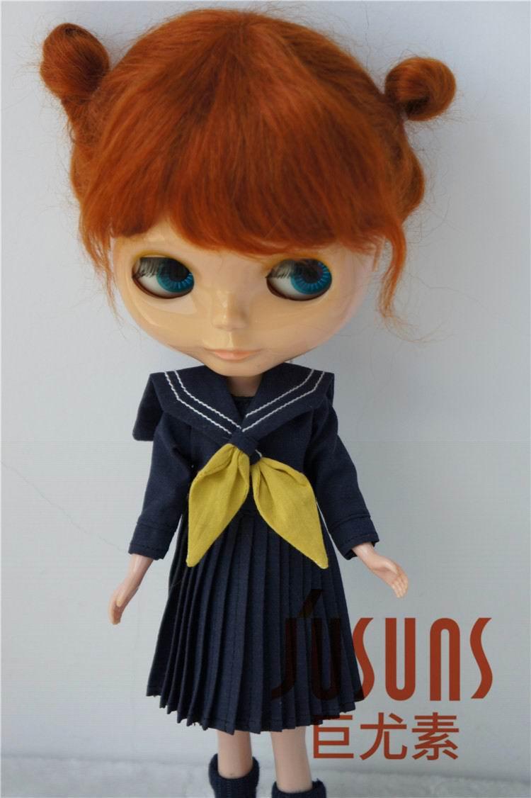 JD415 большой размер две косы BJD мохер парики в размере 8-9 дюймов 10-11 дюймов для кукол мягкие модные волосы куклы аксессуары - Цвет: 10-11inch Carrot M8