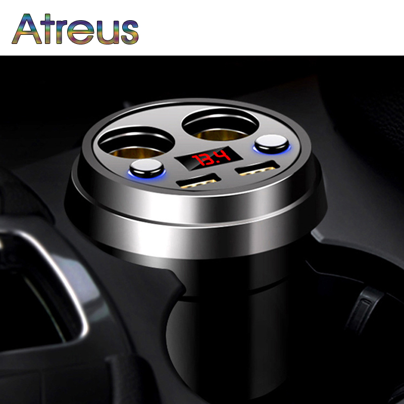 Atreus 3.1A Multi-function car charger Cigarette Lighter For Audi A4 B6 VW Passat B5 B7 Skoda Octavia A7 A5 Renault Megane 2 3 аксессуары для раций oem dc 12v 5r baofeng 5ra b5 b6 tyt th f8 car charger