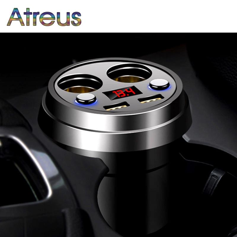 Atreus 3.1A Multi-function car charger Cigarette Lighter For Audi A4 B6 VW Passat B5 B7 Skoda Octavia A7 A5 Renault Megane 2 3