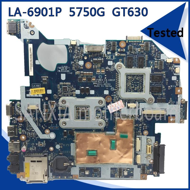 SHELI LA-6901P motherboard for Acer 5750 5750G 5755 5755G original tested laptop motherboard GT630M HM65 100% work nokotion laptop motherboard for acer aspire 5750 5750g mbrcg02006 p5we0 la 6901p mb rcg02 006 gt540m ddr3 mainboard
