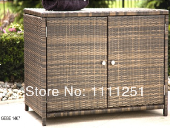 2017 Outdoor Towel Rattan Storage Unit Deck Box Cabinet