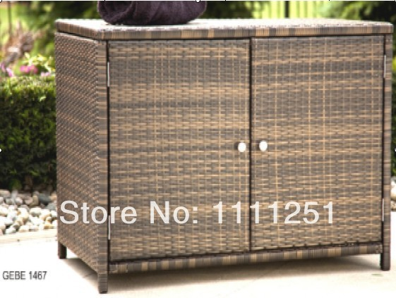 2014 outdoor towel rattan storage unit deck box storage cabinet in garden sofas from furniture. Black Bedroom Furniture Sets. Home Design Ideas