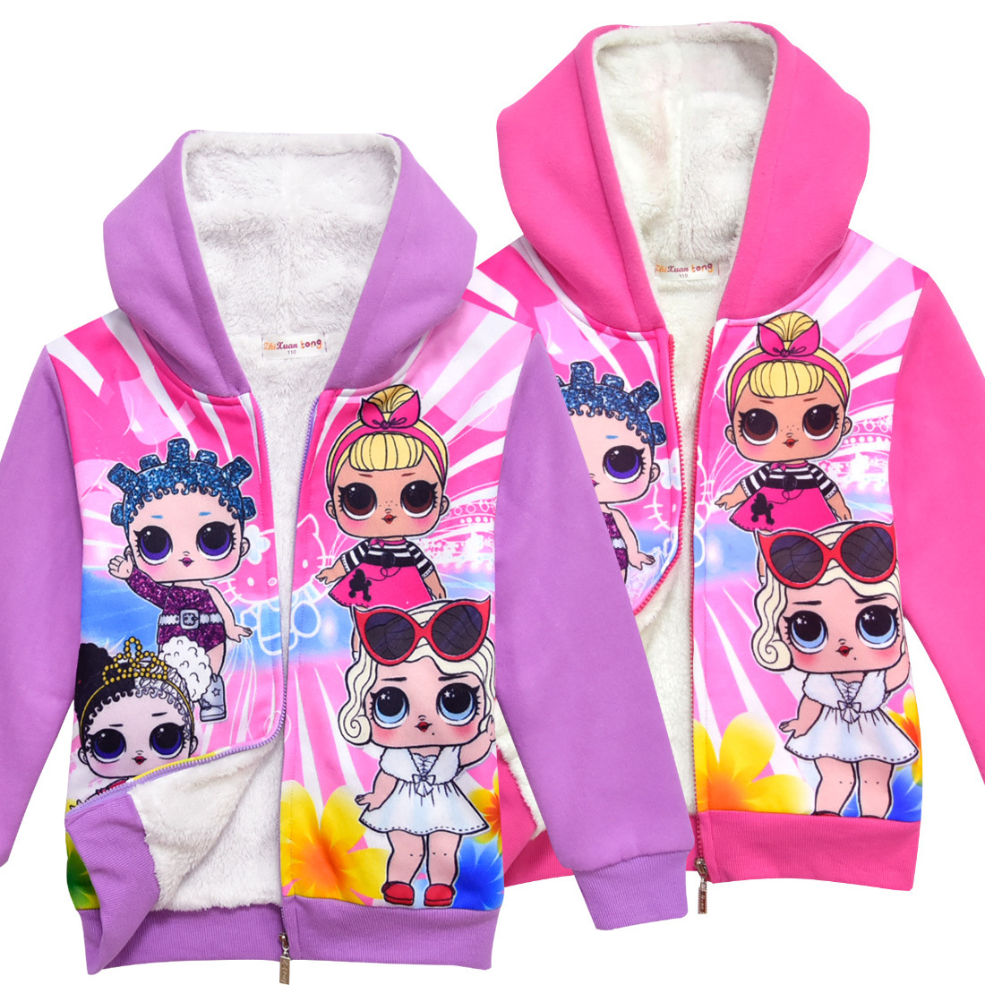 2019 New hot sale girl coat Lol doll shirt girl long sleeved thick Jackets children T shirt children hoodie sweatshirt blouse