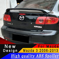 High quality ABS spoiler For Mazda 3 M3 sedan 2006 to 2013 Rear wing primer or any color spoiler|Spoilers & Wings| |  -