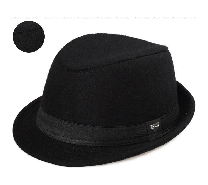 vintage fedora hat black fedora hats for men wool felt hat mens hats fedoras mens fedora hats winter vintage hat jazz hat (9)