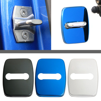 4X Car Accessories Stainless Door Lock Protect Buckle Cover Trim fit For BMW 1 3 4 5 Series X5 X6 image