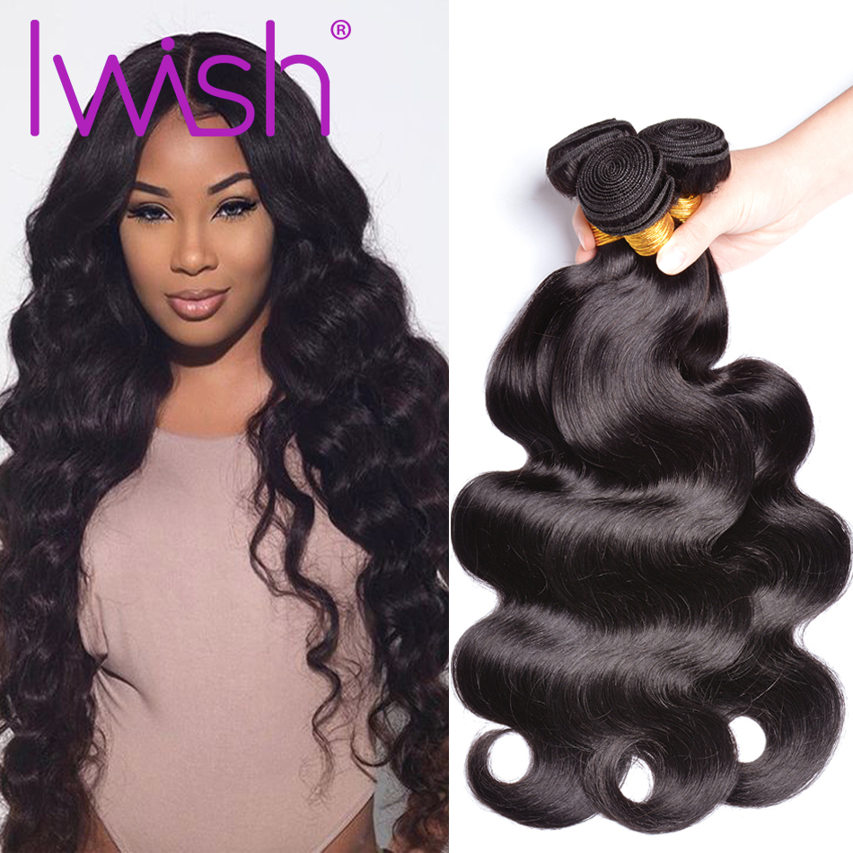 Iwish Hair Body Wave Bundles 100% Human Hair 10-28inch 1/3/4 Bundles Non Remy Hair Vietnamese Hair Weave Bundles Free Shipping