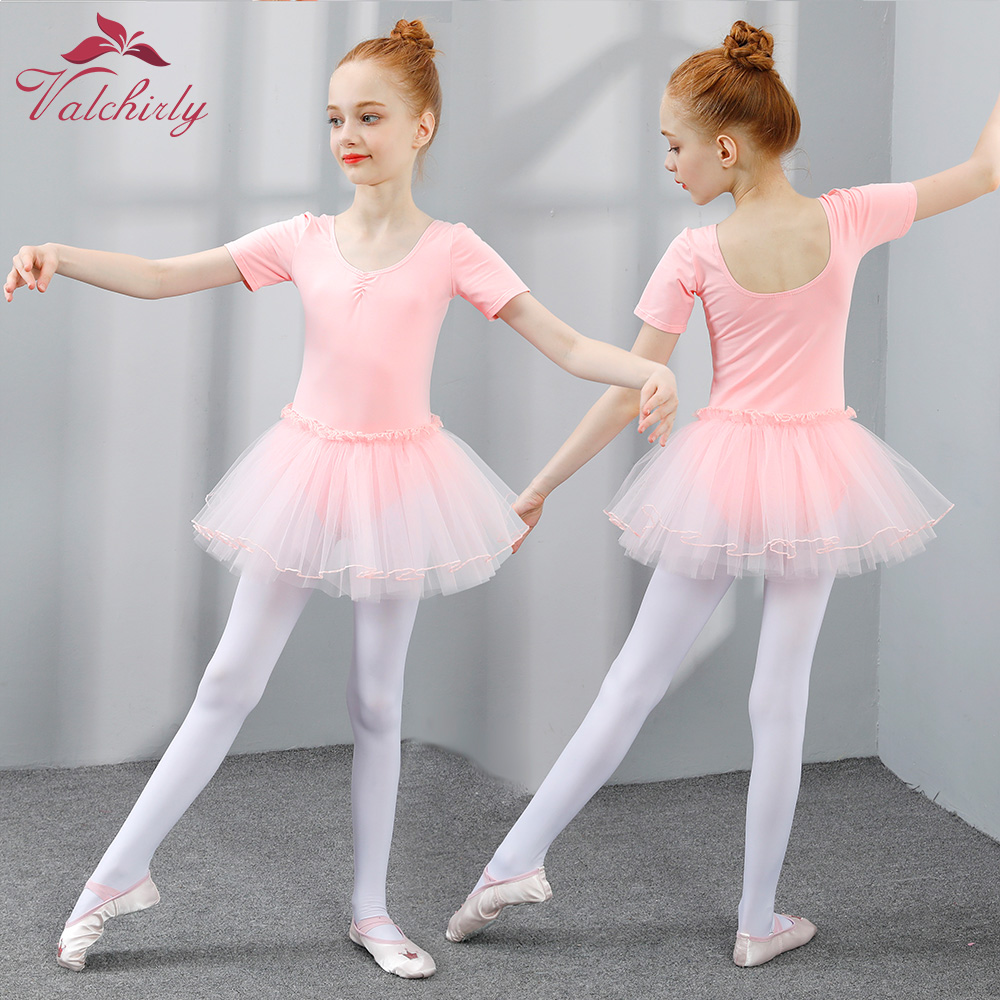 Ballet Tutu Dress Girls Dance Clothing Kids Training Princess Skirt Costumes Gymnastics Leotards