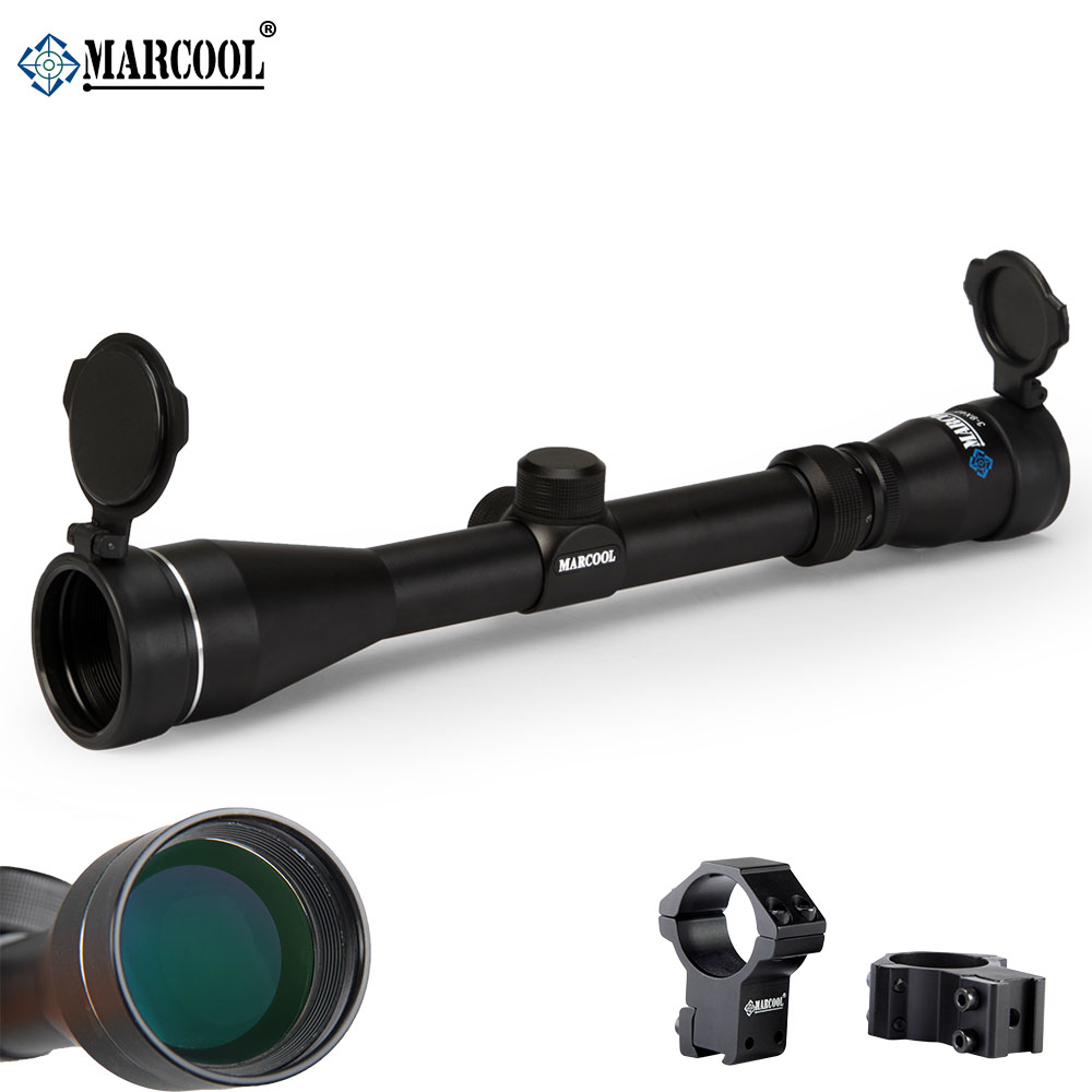 Marcool 3-9X40 Airsoft Air Guns Rifle Weapon Optical Hunting Scopes Sight With Free Riflescopes Mounts For Pneumatic Gun marcool alt 4 5 18x44 sfl with big wheel hunting optical sight airsoft air guns scopes riflescope for pistola airsoft air guns