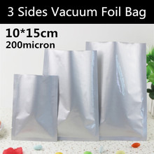 New 300pcs10x15cm (3.9'' * 5.9'') 200micron Aluminum Foil Freezer Food Storage Bag 3-side Vacuum Foil Bag