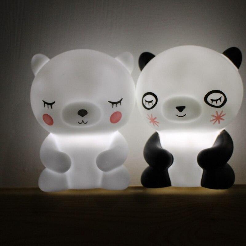 Kids Festival Gift Animal Night Light Cute Bear Panda Baby Children Bedroom LED Mini Lamps Home Decoration Nursery Moon Lamp