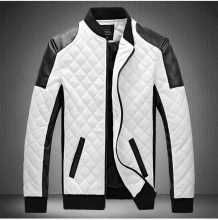 Men Lether Jackets Men Black White Winther Leather Jaquetas Jackets Coat Men Men'S Winter Leather & Suede Large Jacket