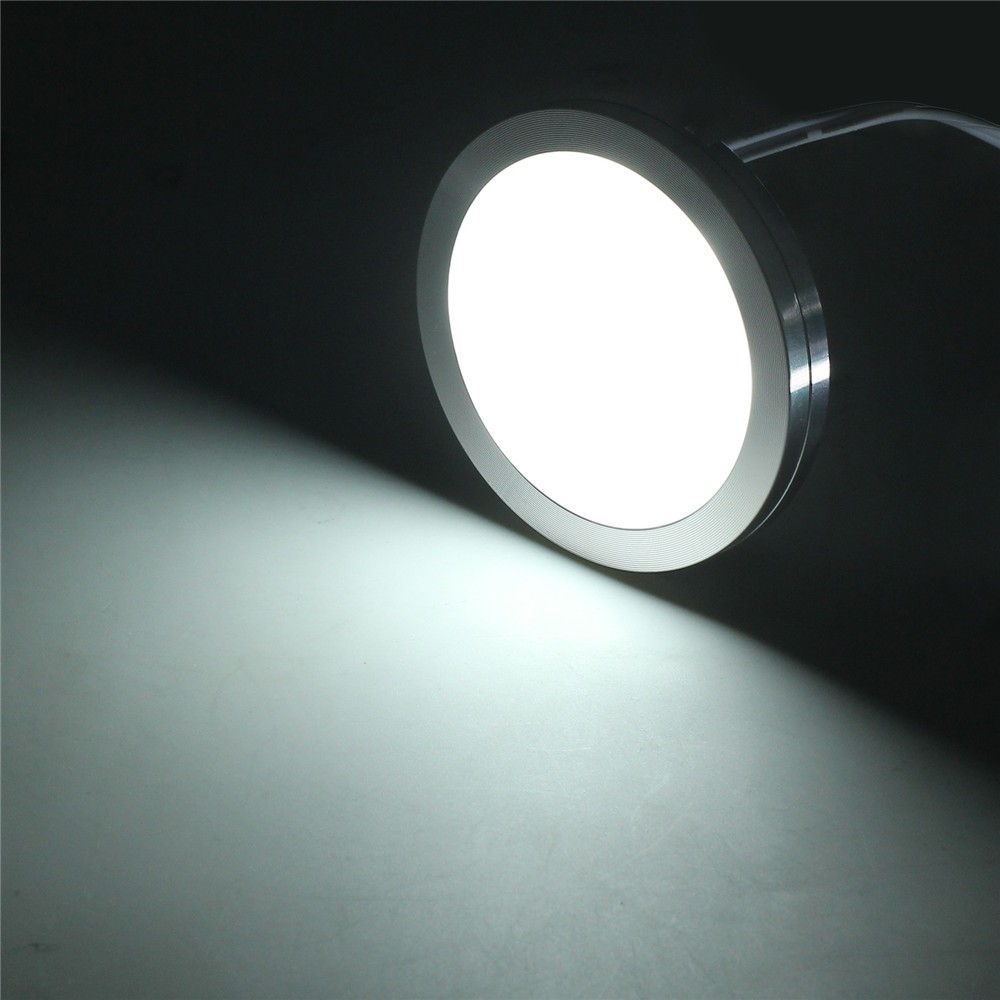 4Pcs 60mm LED Recessed Down Light 12V DC Ceiling Lamp Cool White Aluminum White Shell Caravan Camper Trailer RV Parts Down Light