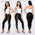 2017 New women leggings casual  sexy evening party slim bottoms female stretch bodycon pencil pants high waist bandage,HH0048