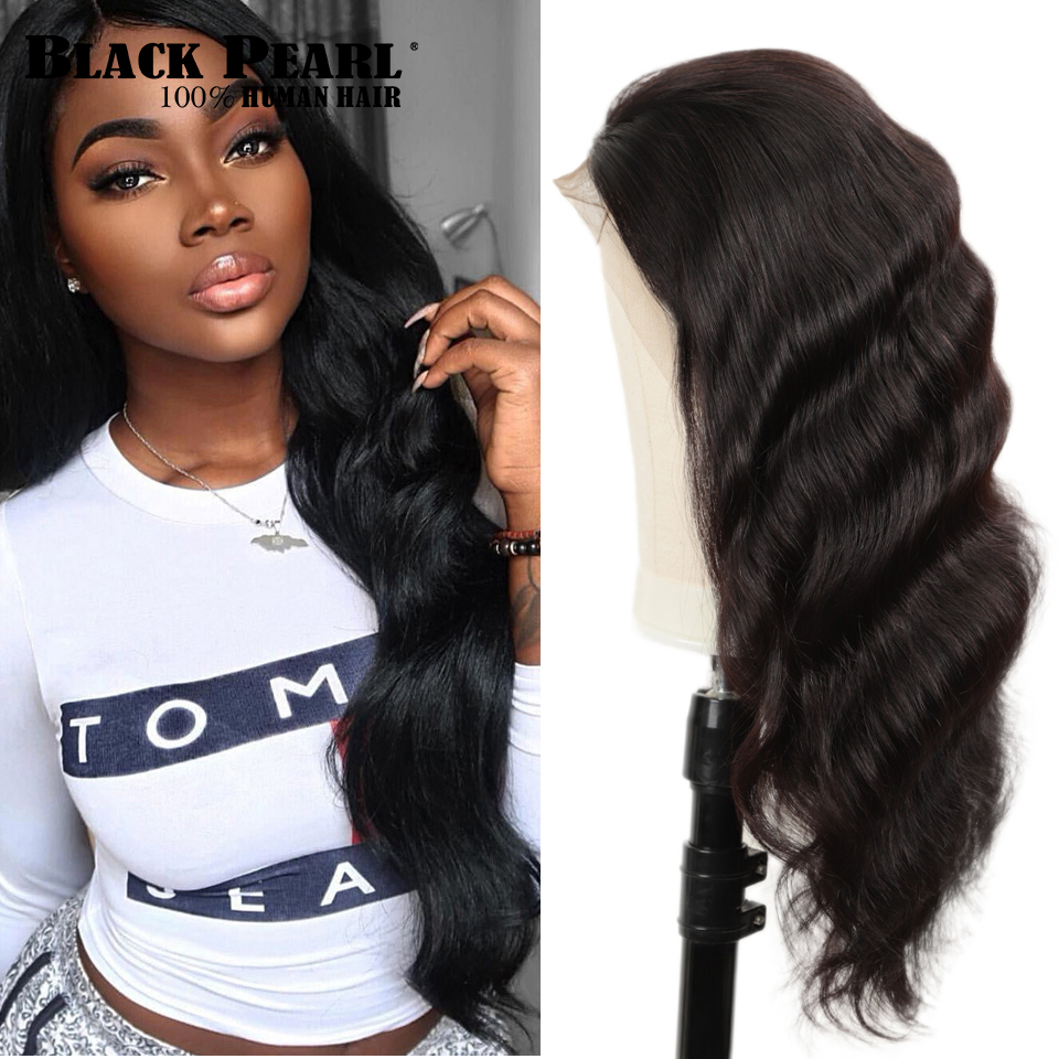 Black Pearl 150% Lace Front Human Hair Wigs 13X4 Pre Plucked Remy Brazilian Body Wave Lace Frontal Wigs For Black Women