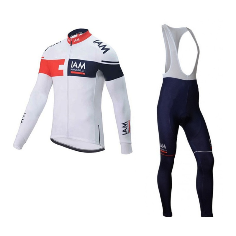 2016 spring autumn pro team IAM funds Ropa Ciclismo Bicycle maillot blue cycling jersey quick dry bike clothing MTB 3D GEL spring autumn 2017 pro team ag2r cycling jerseys long sleeve bike clothing mtb ropa ciclismo bicycle maillot jersey gel pad