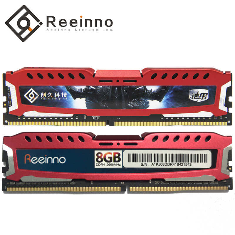 Reeinno memory ram ddr4 4GB 8GB 16GB 2400MHz 1.2V 288pin Lifetime warranty high performance high Speed ram desktop Intel and AMD