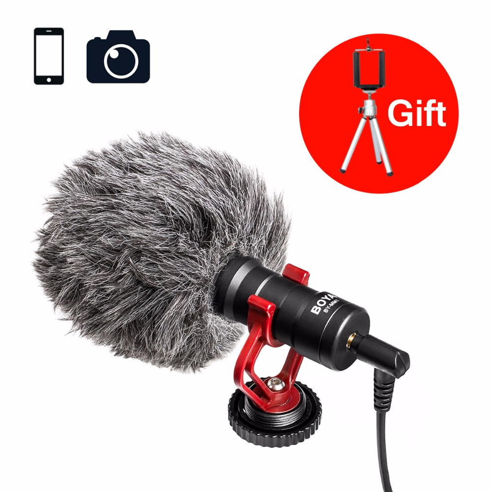 Ulanzi BOYA BY-MM1 Shotgun Microphone Video Interview Mic for Zhiyun Smooth Q/DJI OSMO/DSLR Camera/iPhone 7 6 Andriod Smartphone