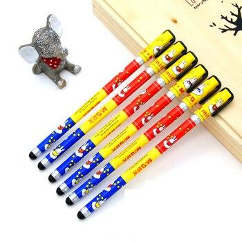 6 unids/lote M & G bolígrafo de Gel nuevo creativo encantador bolígrafo Neutral 0,35mm negro rojo y azul tinta aceitosa linda oficina papelería