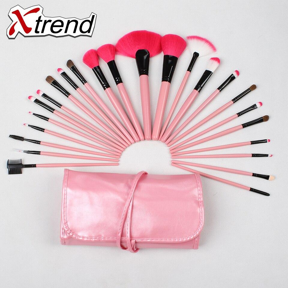 24PC Makeup Set&kits Make-up blending powder eye shadow eyebrow brush nylon wool Horse Hair Beauty cosmetic tools for girl&women