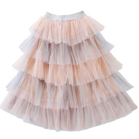 High Quality Baby Girls Princess Skirt Summer Tutu Skirt Teens Cake Tutus Girls Skirts Children Long Skirts for 2 14Yrs CC989