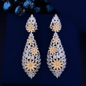 Image 3 - GODKI Luxury Double Layers Nigerian Bridal Jewelry Sets For Women Cubic Zirconia Crystal CZ Dubai Indian Gold  jewelry Sets 2018