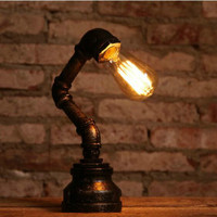 Hot Wall Light Edison Bulb Industrial Iron Rust Water Pipe Retro Wall Lamps Vintage E27 LED