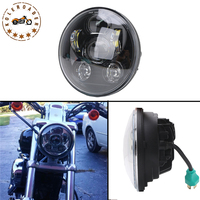 1pcs H4 7 Inch 45W Motorcycle Projector Daymaker LED Headlight High Low Beam Light For Harley