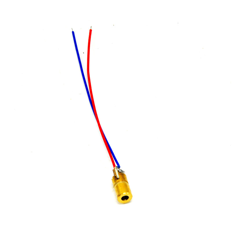 6x10mm 650nm 1mw Red Dot Laser Diode Module 3VDC Industrial APC Driver Focusable in Stage Lighting Effect from Lights Lighting