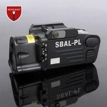 Tactical laser lanterna SBAL-PL caça arma luz combo red laser pistola constante & strobe gun luz picatinny ferroviário