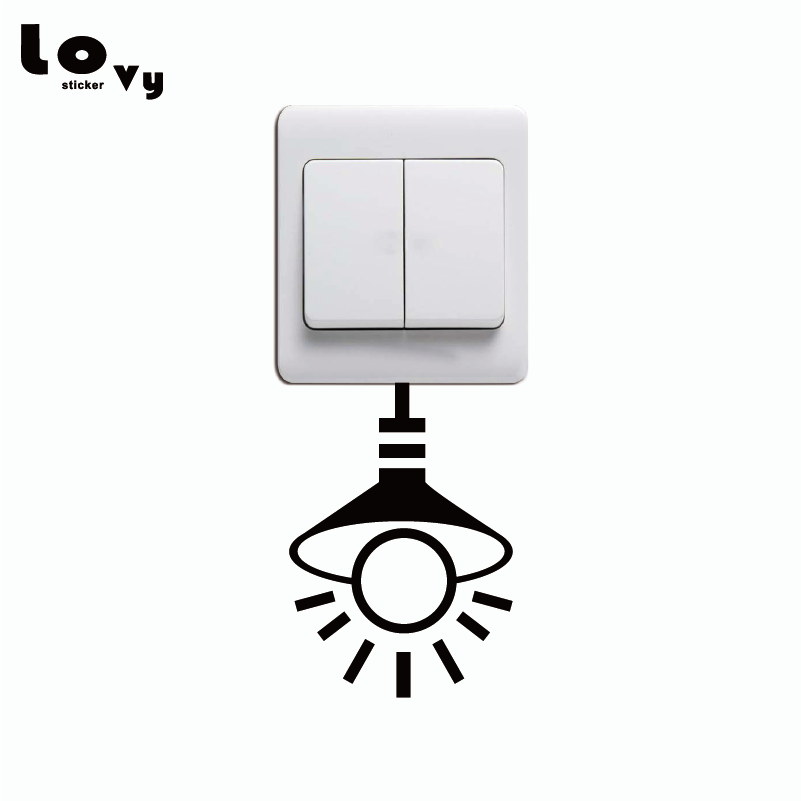 Turning off lights to conserve electricity vacancy Tips switch stickers home decoration shop Available colors ...