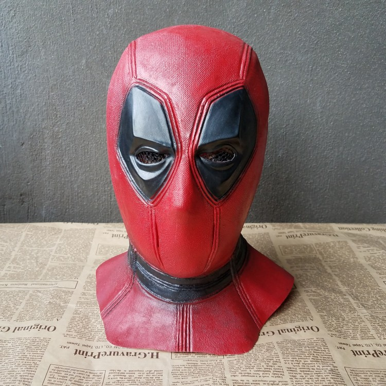 latex deadpool mask superhero balaclava halloween cosplay costume party full face scary mask