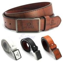 Men s Waistband Casual Luxury Leather Automatic Buckle Belt Waist Strap Belts