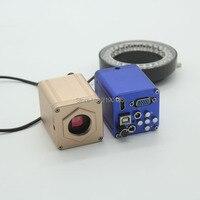 HD 1080 P 1920x1080 40FPS HDMI VGA USB Digital Industrie Mikroskop Kamera mit Einstellbarer LED Ring Licht-in Mikroskope aus Werkzeug bei