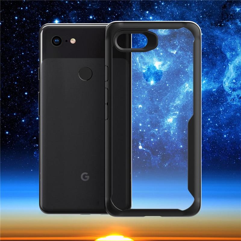 For Google Pixel 3 Case Cover Pixel 3 XL Case TPU + HD Transparent PC Phone Cases Business Back Cover For Google Pixel 3 XL Case