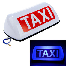 Hard plastic making magnetic taxi light 12v Led taxi roof signs light blue taxi roof light цена 2017