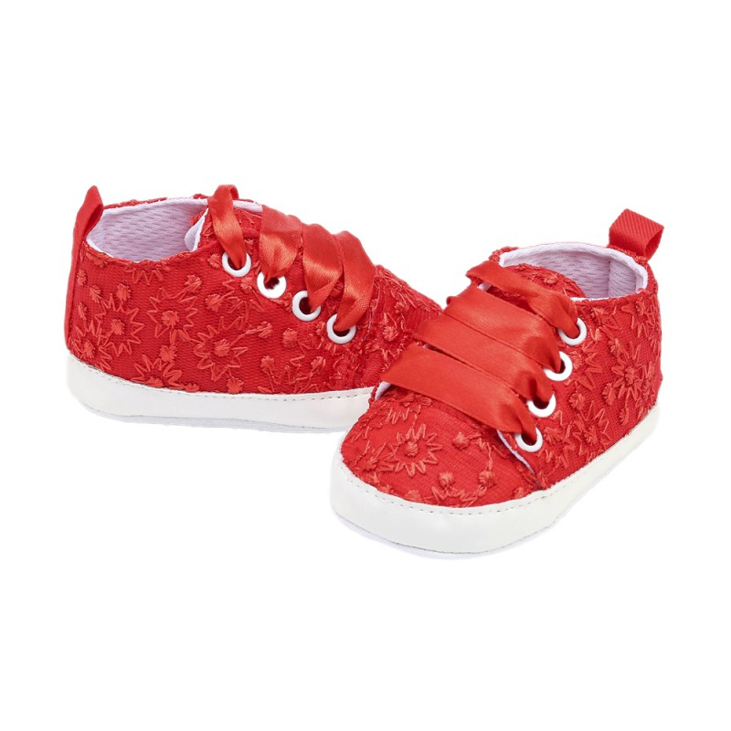 Baby Spring Autumn Embroidered Shoes For Girls Kids Soft Sole First Walkers Casual Walking Crib Shoes