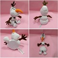 With Original Tag 25CM Snow Queen Sounding OLAF Snowman 3 Parts Removable Olaf Plush Doll Detachable Stuffed Toys Free Shipping