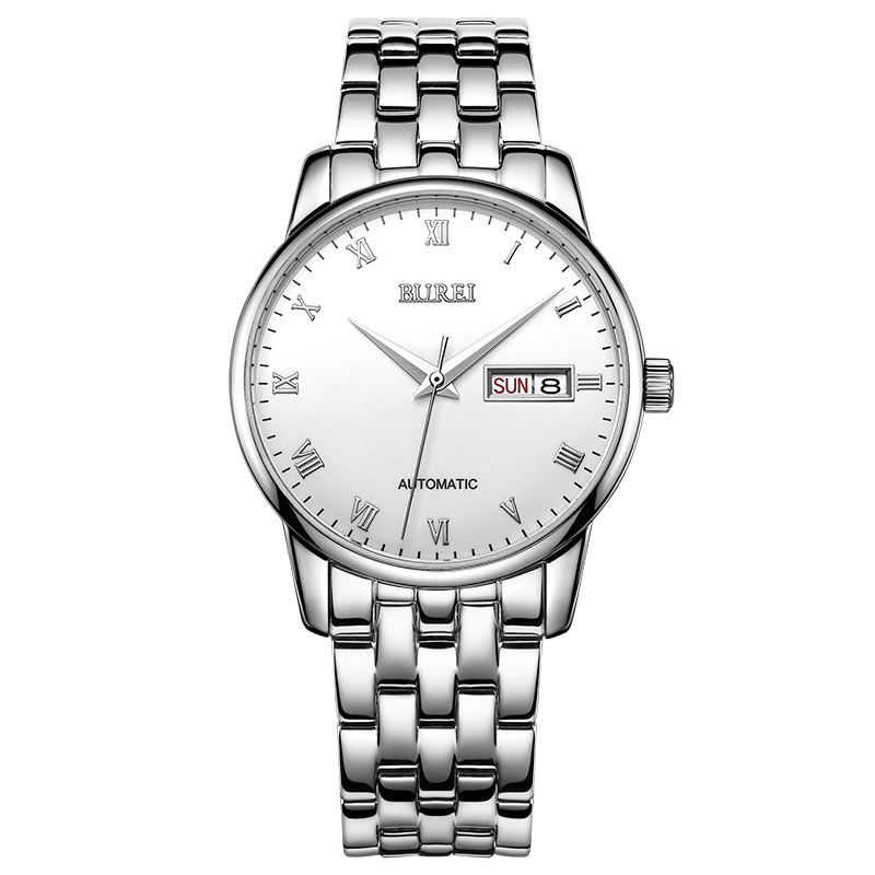 BUREI 1002 Switzerland watches men luxury brand Genuine double calendar automatic mechanical mens watch female coupleBUREI 1002 Switzerland watches men luxury brand Genuine double calendar automatic mechanical mens watch female couple